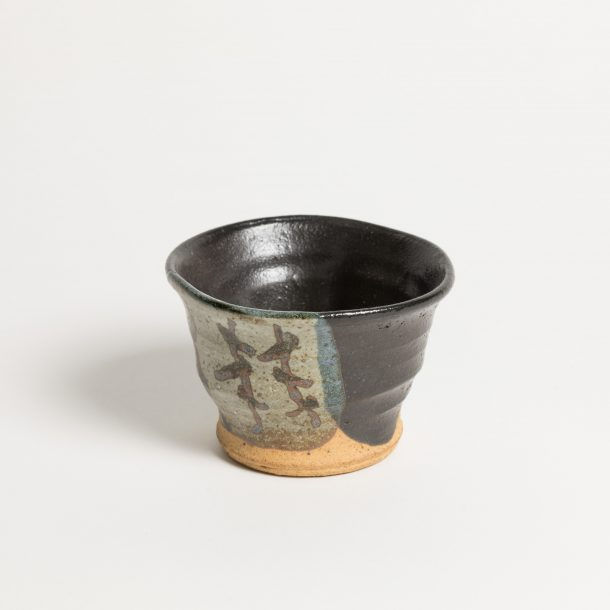 image produit Gobelet Noir aux lianes brunes