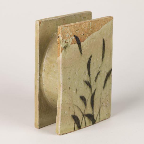 image produit Vase Plaques Feuillage Beige