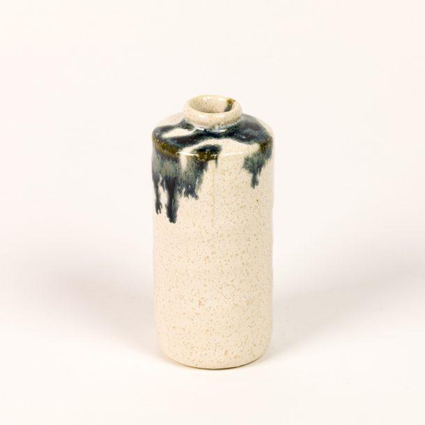 image produit Mini vase tube Blanc-Bleu