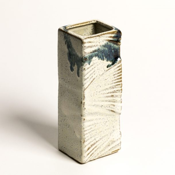 image produit Mini vase Plissé Blanc-Bleu