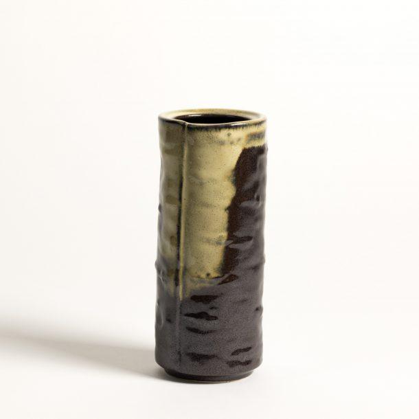 image produit Vase tube plié brun neigeux