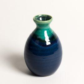 Flacon saké Bleu bord Turquoise