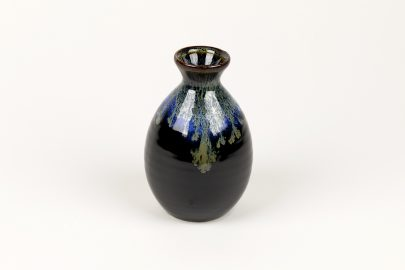 Flacon saké Noir bord Bleu