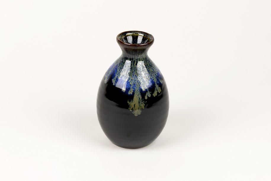 image produit Flacon saké Noir bord Bleu