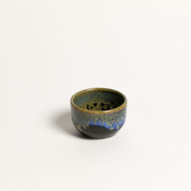 image produit Coupe à saké Noir bord Bleu