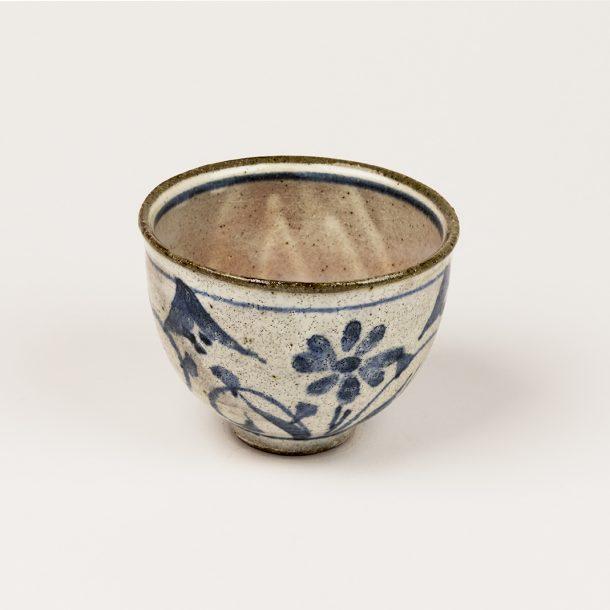 image produit Bol à thé matière Fleurs Bleues