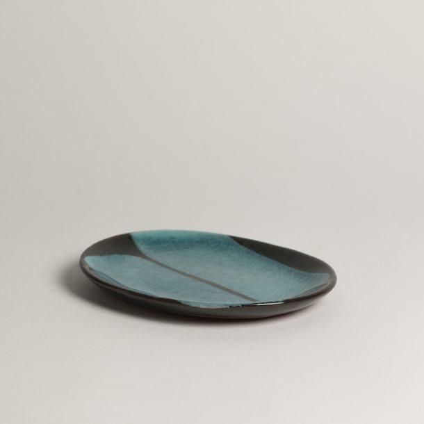image produit Coupelle ovale Brun-Turquoise
