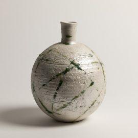 Vase Boule Herbes sur Argent