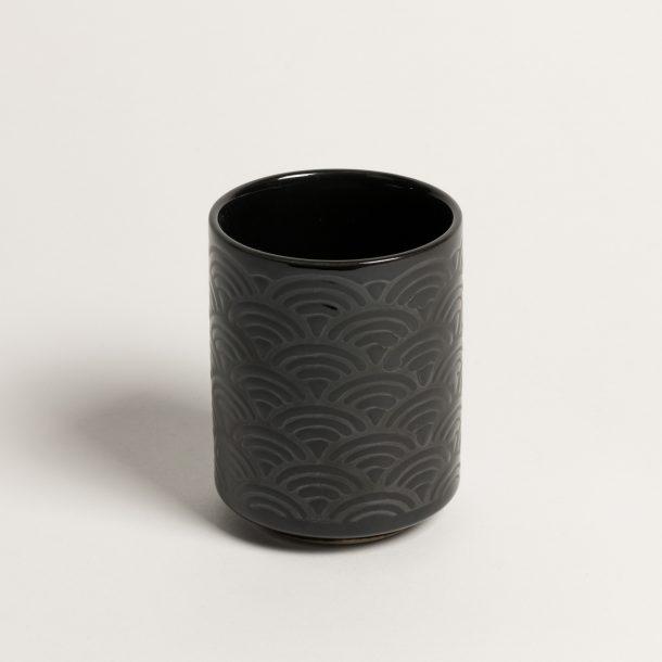 image produit Gobelet Noir brillant Vagues