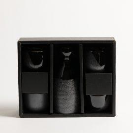 Service Saké Noir 5 pièces