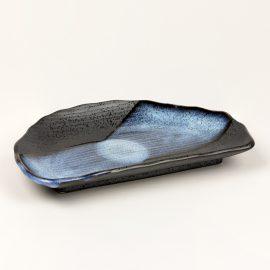 Plat 1/2 lune Noir Nuage Bleu