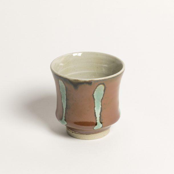 image produit Gobelet Concave Corail-Turquois
