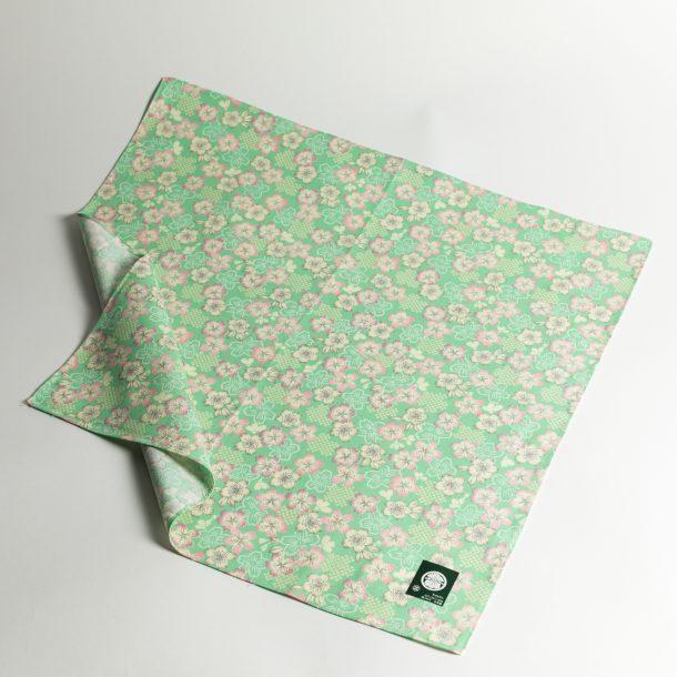 image produit Furoshiki 50 Sakura vert pastel