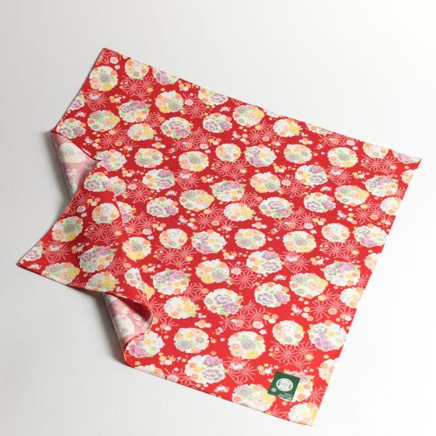 image produit Furoshiki 50 Boules Fleurs Red