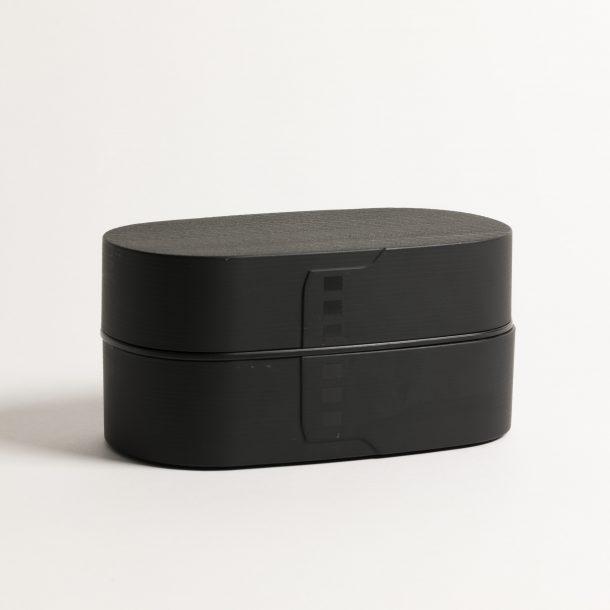 image produit Boite Bento Ovale noire Mat