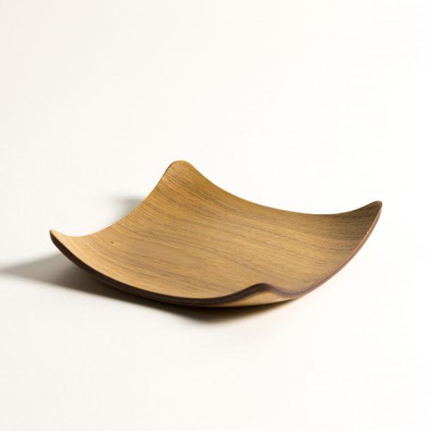 image produit Sous-tasse carrée bois naturel
