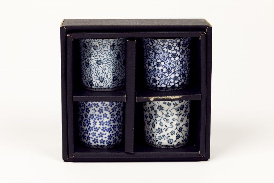 image produit Set 4 coupes saké Fleurs