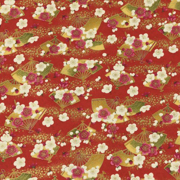 image produit Papier Washi Yuzen Fan Rose