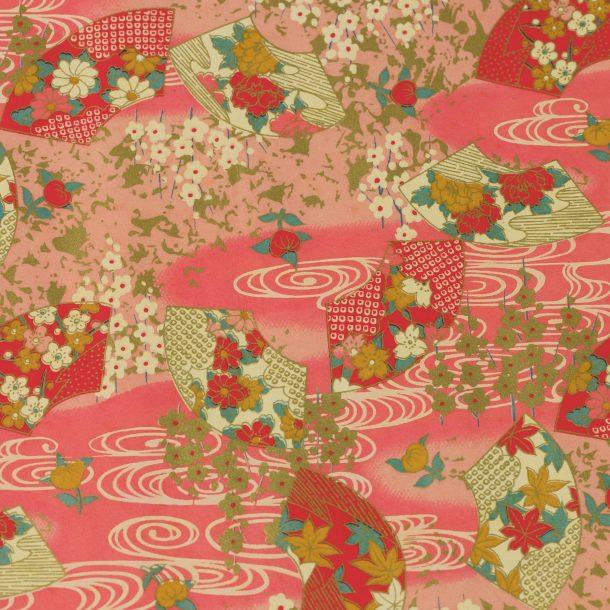 image produit Papier Washi Yuzen Fleurs roses